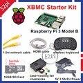 Raspberry Pi 3 Model B XBMC KODI OSMC Starter Kit with 16GB SD Card Wireless Keyboard 5V 2.5A EU/US/UK/AU Power Supply