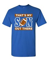 Vintage Tees Funny O Neck That S My Son Out There Footballer Sportser Proud Parents Short