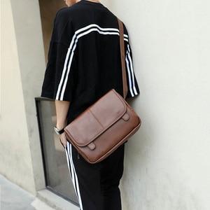Image 2 - موضة جديدة حقيبة حقيبة للذكور حقيبة ساعي الأعمال Crossbody حقائب كتف للرجال العلامة التجارية مصمم حقيبة كمبيوتر محمول عادية