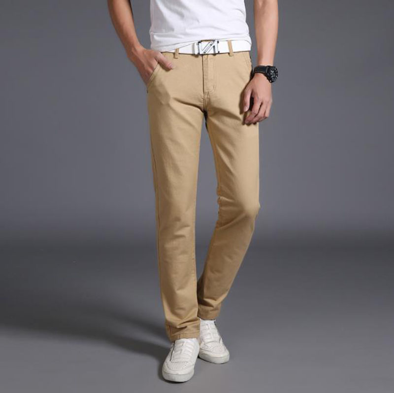 2019 Summer New Men Thin Light Jeans Business Casual Slim Denim Trouser Blue Black Red Trousers Male Brand Pants Plus Size