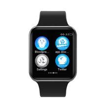 Caso para A Apple iOS SmartWatch Bluetooth Relógio Inteligente 1:1 iPhone Xiaomi Android Telefone Inteligente (Botão Vermelho)