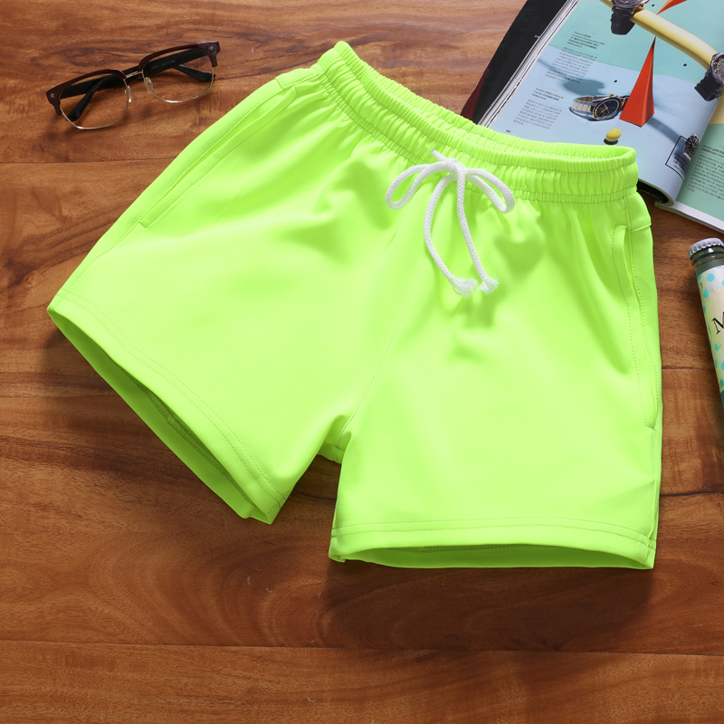 Men/'s Summer Loose Casual Beach Pants Cotton Sliod Color Thin Holiday Shorts