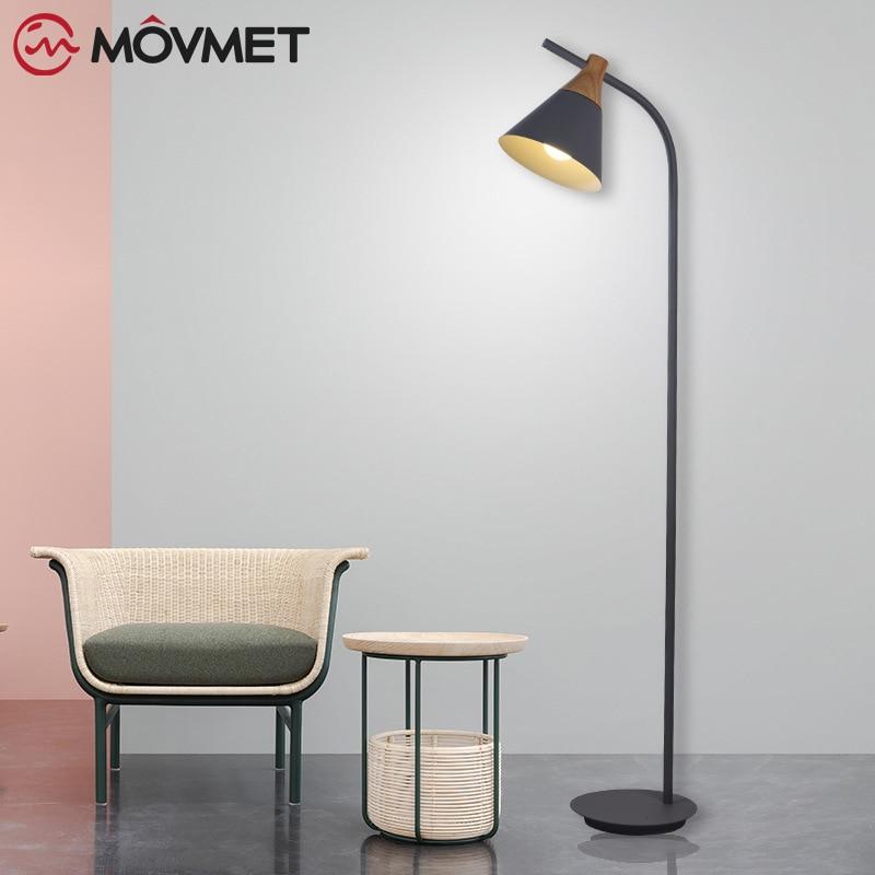 Nordic modern minimalist creative floor light bedroom floor light study color macarons floor lamp in Floor Lamps from Lights Lighting