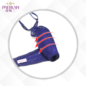 Image 4 - PAERLAN Hanging neck without straps invisible underwear gathered non slip beauty back sexy lace no steel ring bra chest Halter