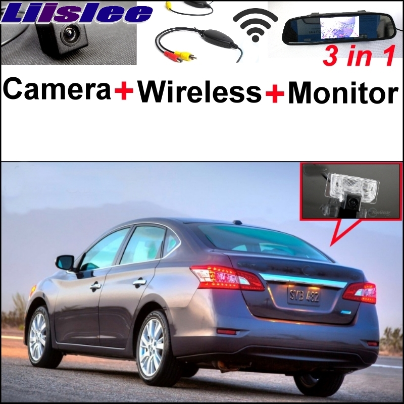 Liislee 3 in1 Special Rear View Camera Wireless Receiver Mirror Monitor Parking System For Nissan Sentra Pulsar Sylphy 2013~2017 carburetor carb for nissan a12 cherry pulsar vanette truck datsun sunny b210 pulsar truck 16010 h1602 16010h1602 16010 h1602