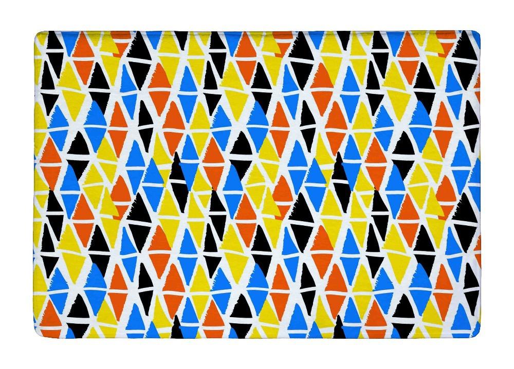 alfombra del piso de colores pintados de formas geomtricas de impresin de diamante alfombras alfombras