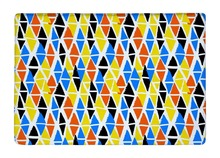 Floor Mat Colorful Hand Painted Diamond Geometric Shapes Print Non slip Rugs Carpets alfombra For font