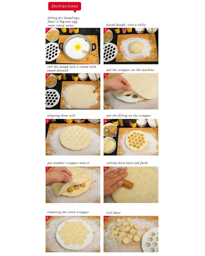 DIY Dumpling Mold Maker Kitchen Dough Press Meat Dumpling Ravioli ...