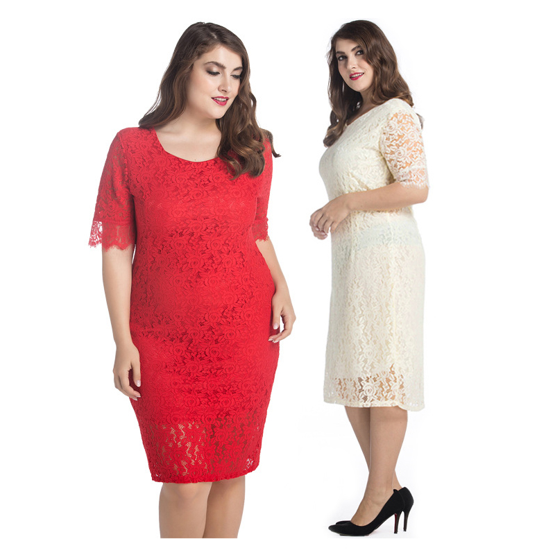 US $17.0 5% OFF|M 10XL Red Dress Big Size 2018 Women Elegant Graduation  Evening Party Club Dresses Plus Size Lace Dress 9XL 8XL 7XL 6XL 5XL-in  Dresses ...