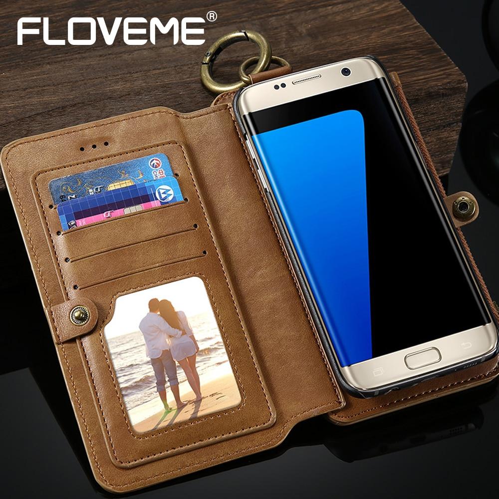 bilder für Floveme luxus vintage für samsung s7 edge case für galaxy s8 s8 plus case slot männer wallet schutz leder kreditkarte-halter-beutel-abdeckung