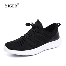 YIGER New Men sneakers breathable super big size light mesh casual shoes male Net mens sports man running 323
