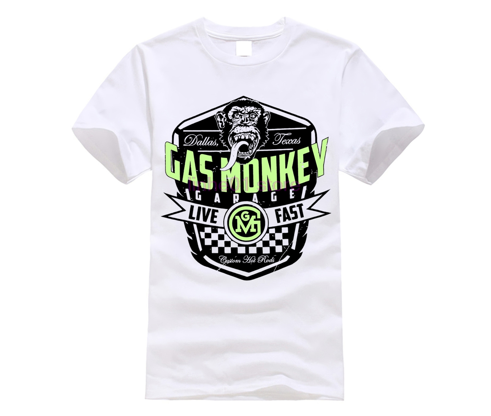 GILDAN 2019 NEW   shirt   GAS MEN   shirt   MONKEY Garage Live Fast Unisex Official   T     Shirt   Brand New Various Sizes TV F