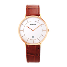 BERNY New Top Luxury Watch Men Men's Watches Ultra Thin Stainless Steel Mesh Band Quartz Wristwatch Fashion casual watches 2793L