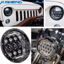 75w for Land Rover Defender 90/110  7inch LED headlight 7 projector headlamp replacement for Jeep wrangler JK LJ TJ CJ