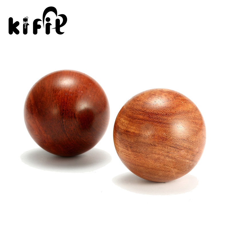 KIFIT 50mm/60mm Chinese Health Meditation Exercise Stress Relief Baoding Balls Wood Healthful Fitness Ball Relaxation Therapy kifit newest chinese health daily exercise stress relief handball baoding balls relaxation therapy ying yang blue massage tool