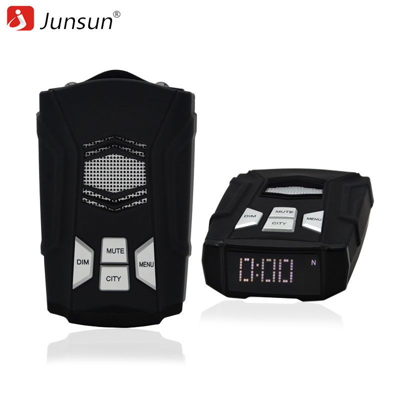 Junsun L1 Car GPS Radar Detector for Russia Fixed & Flow Velocity Detector GPS Radars Database Updating X/K/KA/Laser/Strelka /CT 2017 gps navigator car anti radar detector x k ka ultra k strelka 360 degree laser detection with russia language