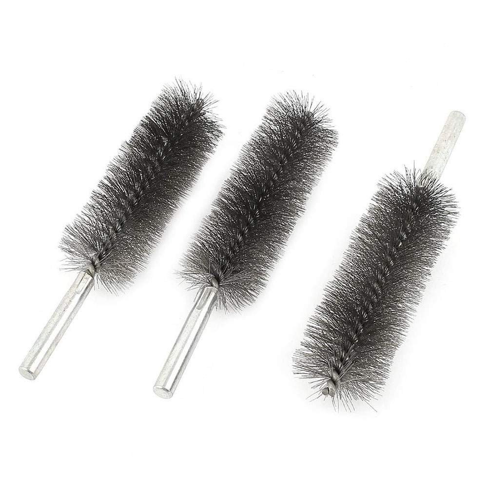 HOT GCZW-3 Pcs 35mm Dia Stainless Steel Wire Tube Brush Cleaning Tool 16cm Long