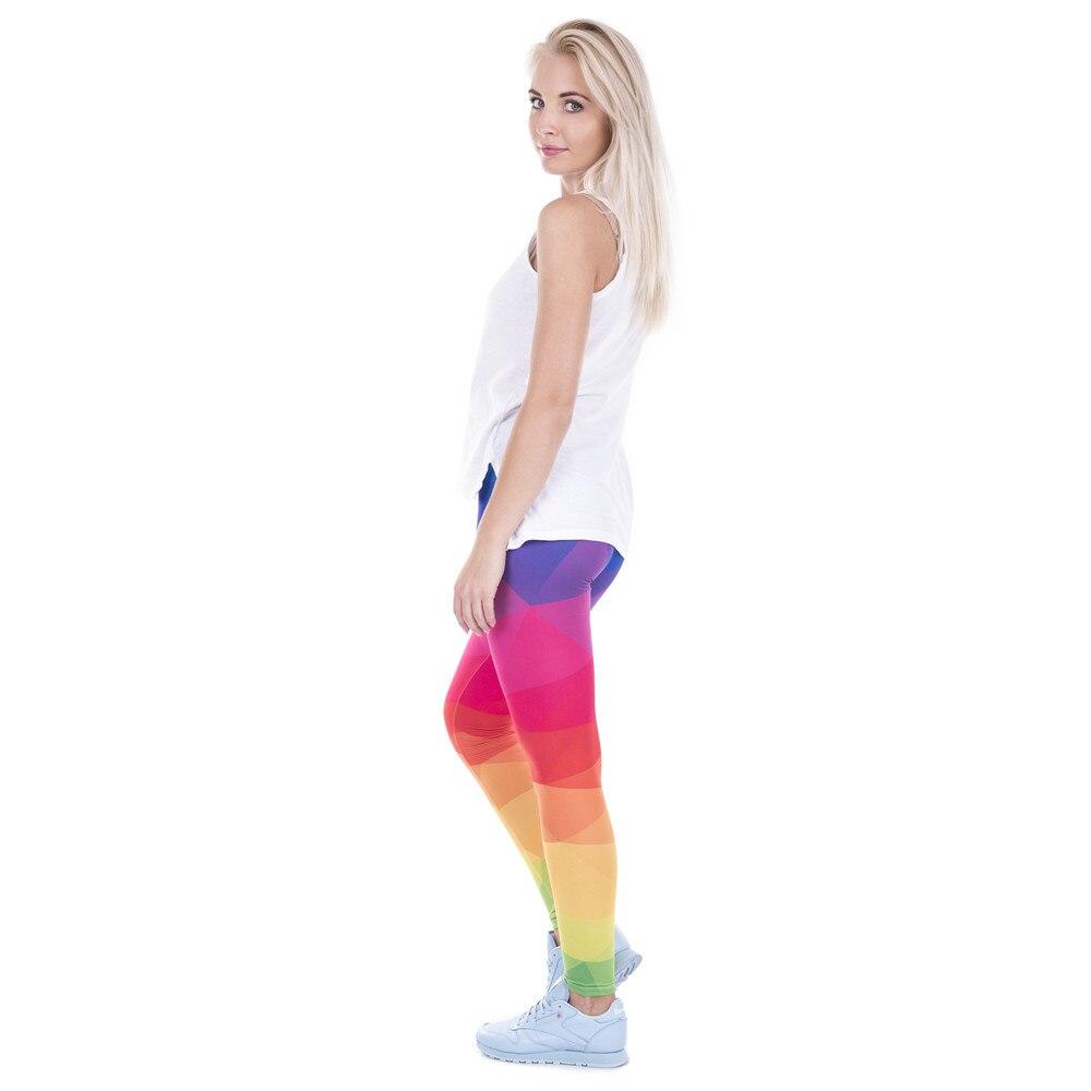 ebca61e8c2b8c Autumn Winter Leggings Printed Women Leggings Candy Rainbow Fitness  Leggings High Waist Slimming Workout Leggings Sexy Capri-in Leggings from  Women's ...