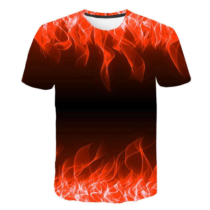 2019 חדש אדום Flaming חולצת טי גברים נשים t חולצה 3d חולצה שחור טי מקרית למעלה אנימה Camiseta Streatwear קצר שרוול חולצת טי