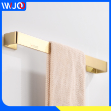 цена Towel Bar Gold Brass Towel Holder Wall Mounted Single Toilet Bathroom Towel Rack Hanging Holder Decorative Bathroom Accessories онлайн в 2017 году