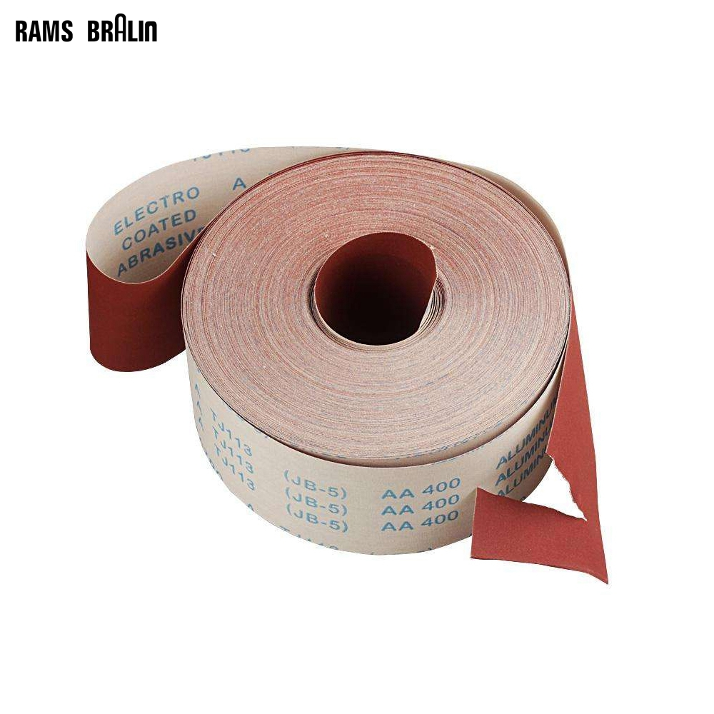 Width 9cm * Length 5M Sanding Screen Roll Emery Cloth Hand Polishing Grinding Tool
