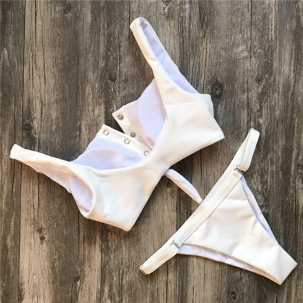 HTB1A3UqXNrI8KJjy0Fpq6z5hVXak Ariel Sarah Brand Sexy Swimwear Solid Bikini Women Swimsuit V Neck Bikinis Set Pants Adjust Bathing Suit Sport Style Biquini