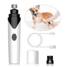 Elétrica Pet Prego Grinder Trimmer Carregamento USB Recarregável Cão Gato Patas Animais de Estimação Cortador de Unhas Prego Clippers Grooming Trimmer FerramentasCortador de unha de cachorro