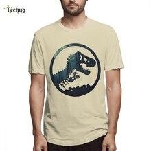 Jurassic Park TeesJurassic Park world Logo T shirt Men's Fashion For Male Geek Unique Design Pure Cotton Tee For Male fashion park
