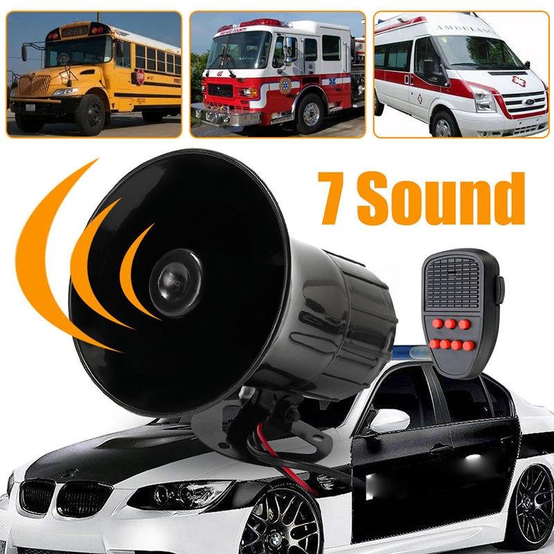 LARATH High power 50 Watt 12 V 7 Klang Laut Auto Warnung Alarm Für Polizei Feuerwehr Sirene Horn PA Lautsprecher Motorrad lautsprecher