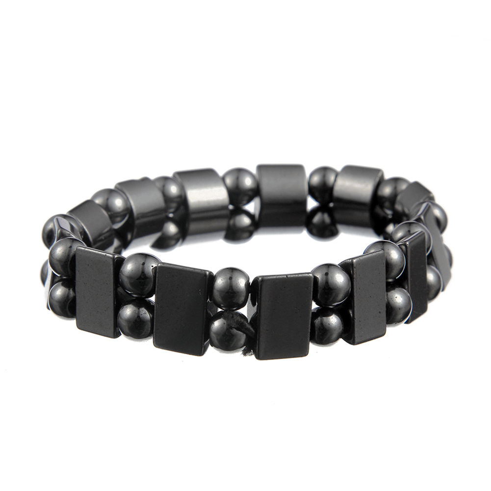 2018 5 Pcs Fashion Men Women Charm Black Magnetic Hematite Bracelet Healthy Bracelets Massage Gifts LL@17