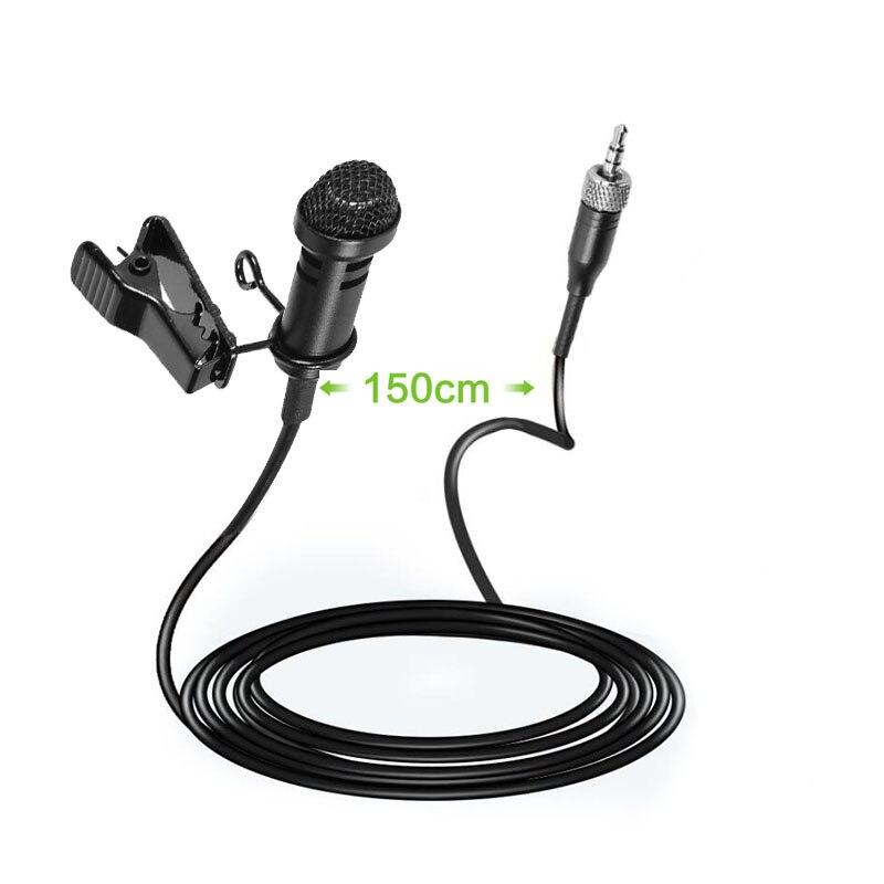 100 piezas Pro de solapa Stereo micrófono condensador cardioide para Sennheiser inalámbrico transmisor BodyPack 3,5mm con cierre Q103