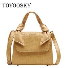TOYOOSKY Famous Designer Brand Women Crocodile Leather Handbags Luxury Ladies Crossbody Bag Purse Fashion Shoulder Bolsa Sac