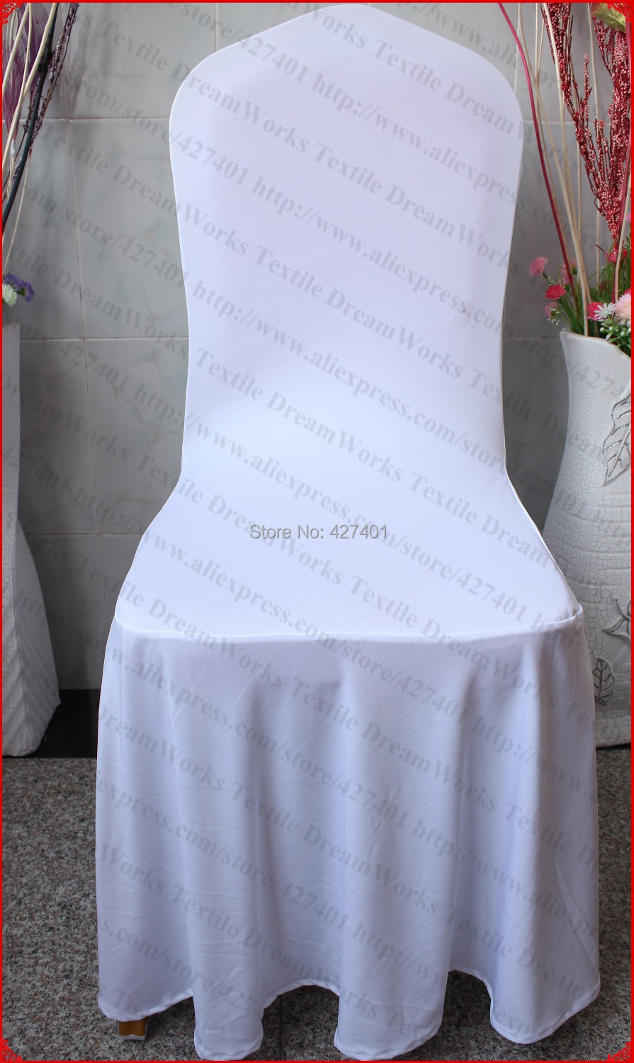 White Color <font><b>Elegant</b></font> Pleated Swag Spandex Chair Cover/Lycra Chair Cover/Backdrop For Wedding Party Hotel Banquet <font><b>Home</b></font> <font><b>Decorations</b></font>