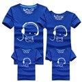 2016 Популярные Дизайн Печати Семейные Соответствующие Наряды 100% Хлопок Super Soft Дети Родителей Семьи Футболки Мать Дочь Одежда