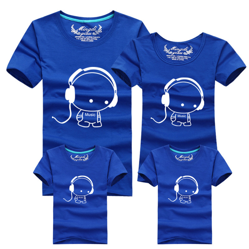 2016 Por Design Print Family Matching Outfits 100 Cotton Super Soft Kids Pas T Shirts Mother Daughter Clothes