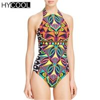 HYCOOL One Piece Swimsuit Monokini For Women Italian Style Retro Vintage Sexy Swimwear Female Swimming Bathing