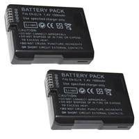7.4V 1500mAh EN-EL14 Batteries ENEL14 EN EL14 Camera Battery Pack For Nikon D5200 D3100 D3200 D5100 P7000 P7100 MH-24
