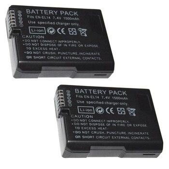 7,4 V 1500mAh EN-EL14 Batterien ENEL14 EN EL14 Kamera Akku Für Nikon D5200 D3100 D3200 D5100 P7000 P7100 MH-24