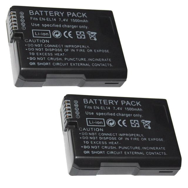 7.4 v 1500 mah EN-EL14 Pin ENEL14 EN EL14 Máy Ảnh Battery Pack Đối Với Nikon D5200 D3100 D3200 D5100 P7000 P7100 MH-24