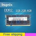 Hynix 1 ГБ 2 ГБ 4 ГБ sodimm PC2-6400 DDR2 667 800 667 мГц 800 мГц PC2-5300 so-dimm sdram Память Ram Memoria Для Ноутбука Notebook