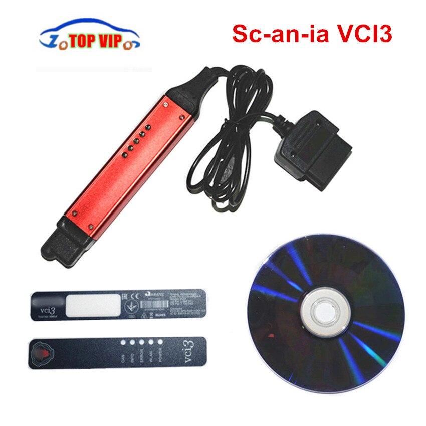 V2.27 Лучшая цена WI-FI VCI-3 большой кабель VCI3 V2.27 SDP3 программного обеспечения 2,27 Беспроводной грузовик диагноз вместо VCI2