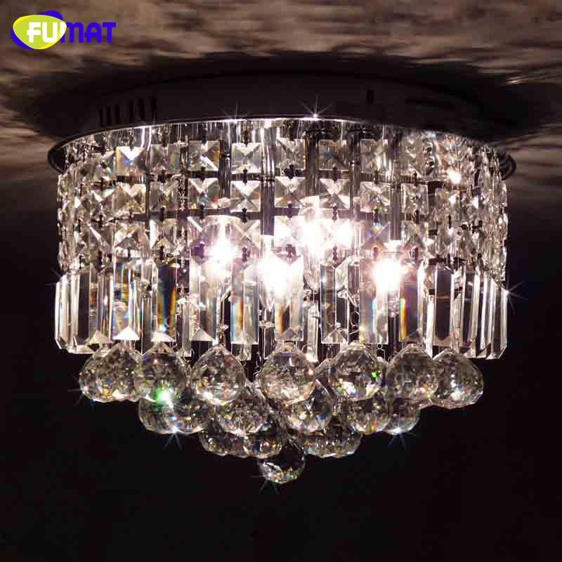 Fumat Led Ceiling Fans Crystal Light Dining Room Living: FUMAT Brief K9 Crystal Chandelier Lights LED Chrome