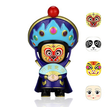 Купить с кэшбэком Fun Novelty Opera Toy Face Emotion Relax Doll Ethnic Adult child Stress Relieve Trandition hobbies gift change 4 face per color