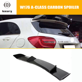 W176 R Style Carbon Fiber Rear Roof Spoiler Wing for Benz A-Class A180 A200 A250 A260 A45 AMG 2013 2014 2015 2016 2017