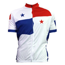Extranjero SportsWear PANAMÁ Hombres Ropa de Ciclo de la Manga Corta Blanca de Poliéster Transpirable Ciclismo Bike Jerseys Ciclismo Tamaño XS-5XL