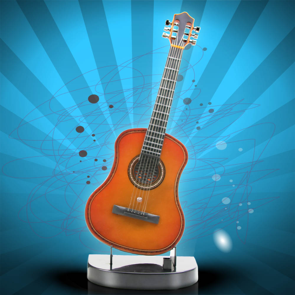 buy acoustic guitar music box classical guitar desktop decoration musical. Black Bedroom Furniture Sets. Home Design Ideas