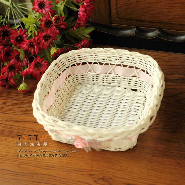 value home essential practical new material woven storage baskets small debris basket fruit. Black Bedroom Furniture Sets. Home Design Ideas