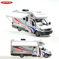 Simulation Luxury Camper Van Motorhome Vehicle Alloy Diecast Toy Car Model Collection Gift Cars Toys For Children