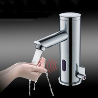 Deck Mounted Bathroom Sensor Sink Faucet Cold & Hot Hand Touchless Tap Automatic Inflated Sensor Faucet Crane ELS88