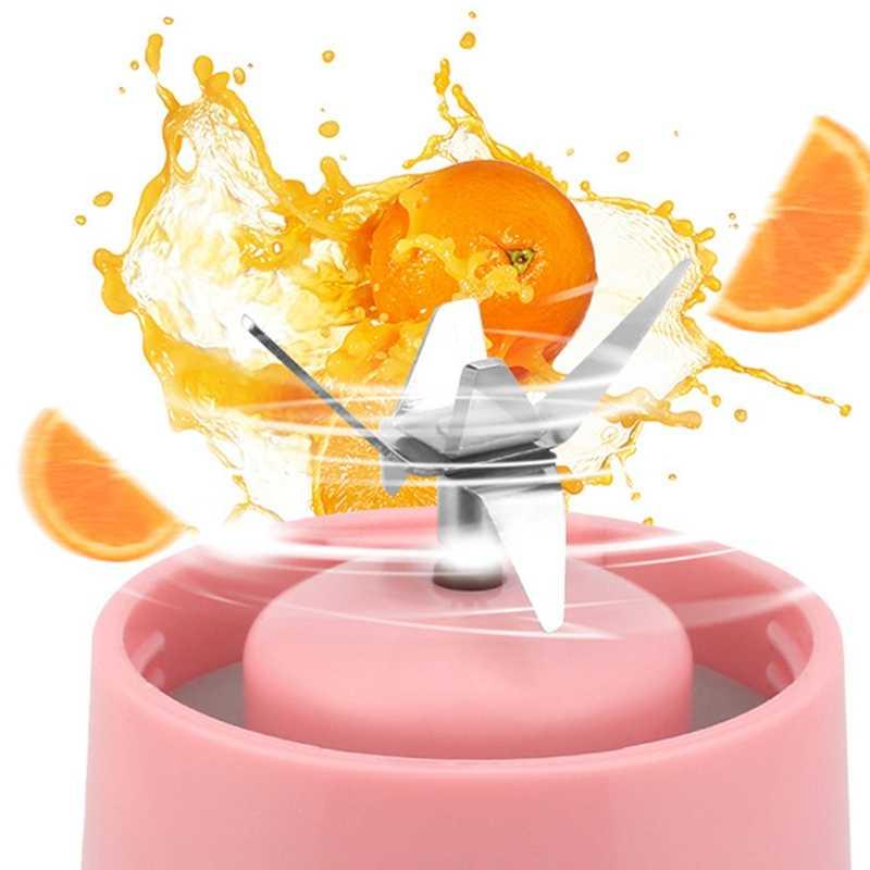 400 ml 6 lâminas mini usb recarregável portátil espremedor de frutas elétrico smoothie maker liquidificador máquina garrafa de esportes copo juicing